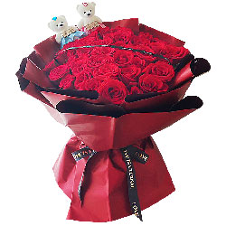 33朵红玫瑰,给你的爱是一生一世