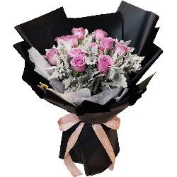 12朵紫玫瑰,有你真好