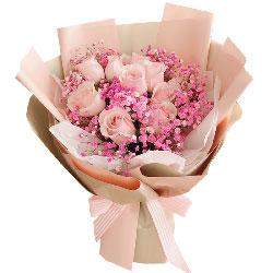 10朵戴安娜粉玫瑰,爱情恒古不变