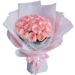 22朵戴安娜粉玫瑰,一切都为你