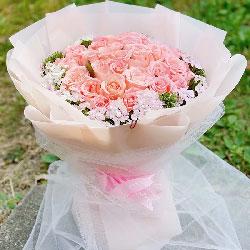 29朵戴安娜粉玫瑰,一起看那彼岸花开时