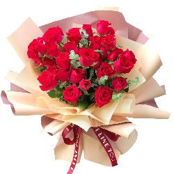 25朵红玫瑰,我的爱永远为你打开