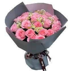 18朵戴安娜粉玫瑰,爱的心跳