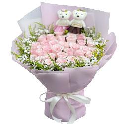 33朵戴安娜粉玫瑰,携手与你共赏美好