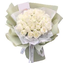 29朵白玫瑰,把握好幸福