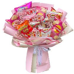 11包零食花束,自豪和幸福