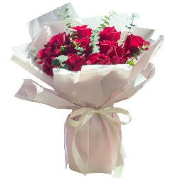 11朵红玫瑰,愿爱情之路美好平坦