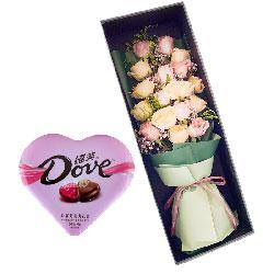 19朵玫瑰礼盒巧克力,爱伴你平安幸福一生