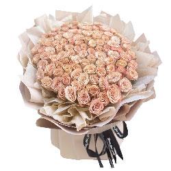99朵卡布奇洛玫瑰,一起走人生路