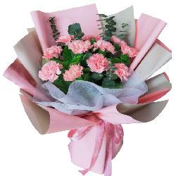 11朵粉色康乃馨,最在乎我的人