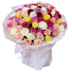 99朵玫瑰混搭,好好爱你