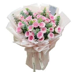 33朵戴安娜粉玫瑰,给你一生的爱恋