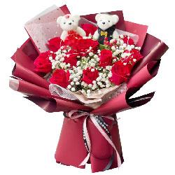 12朵红玫瑰,天天想你