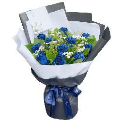 12朵蓝玫瑰,有我就有甜蜜