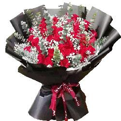 33朵红玫瑰,遇到你很幸福