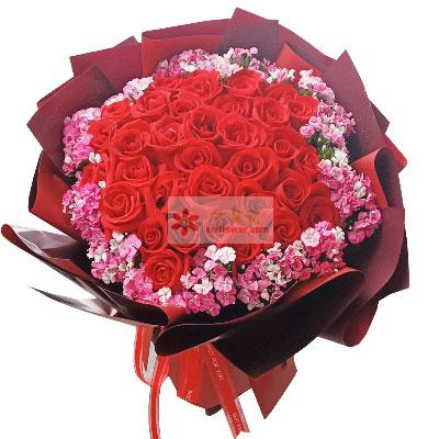 29朵红玫瑰相思梅,你是我的幸福驿站