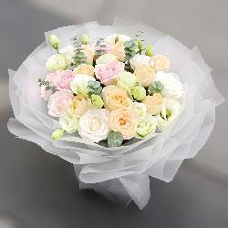 19朵玫瑰混搭,人生有你很美好