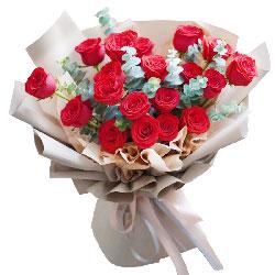19朵红玫瑰,和你一起感受爱情的时光