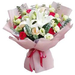 11朵玫瑰百合,亲亲爱爱的宝贝