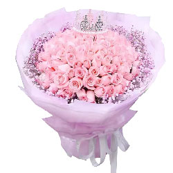 99朵戴安娜粉玫瑰,获得真爱