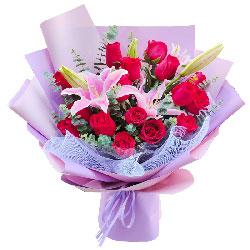 19朵红玫瑰百合,独一无二的你