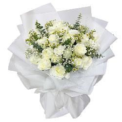 33朵白玫瑰,温柔善感的心灵