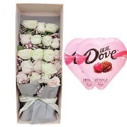 19朵玫瑰巧克力礼盒,人生只有我和你