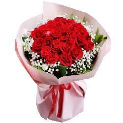 33朵红玫瑰满天星,寂寞情深深