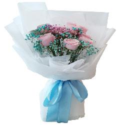 9朵戴安娜粉玫瑰,你的一切都牵动我