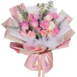 12朵玫瑰康乃馨,幸福与欢笑